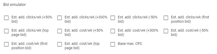 google ads bid simulators