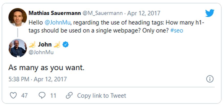 Multiple H1 Tags